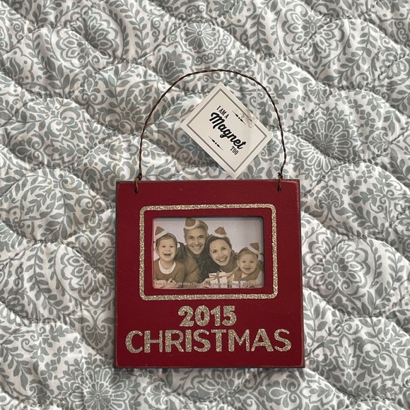 Magnetic 2015 Christmas Photo Ornament